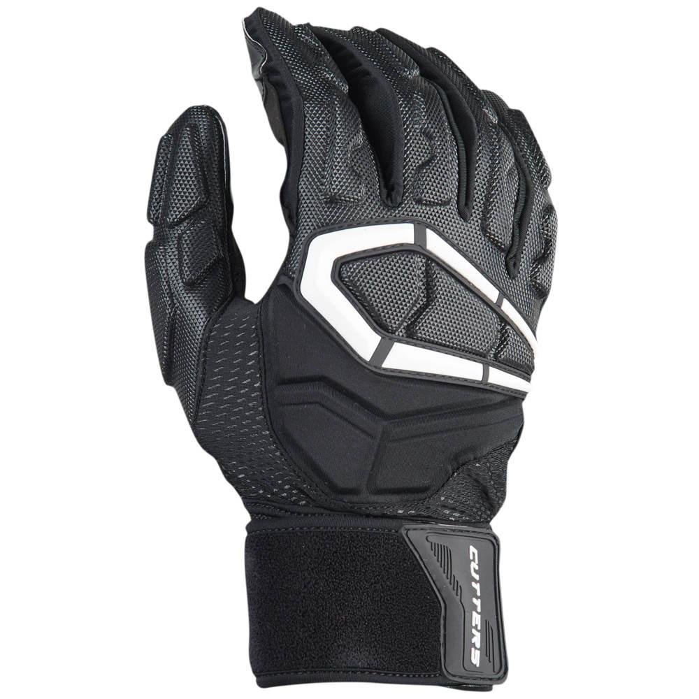 カッターズ Cutters メンズ アメリカンフットボール ラインマングローブ グローブ【Force 3.0 Lineman Football Gloves】Black