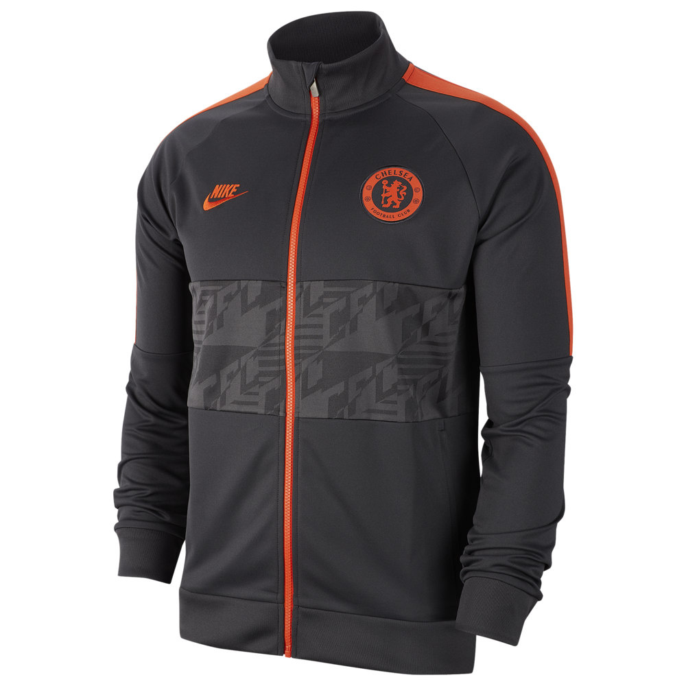 ナイキ Nike メンズ サッカー ジャケット アウター【Soccer I96 Jacket】Soccer International Clubs Chelsea Anthracite/Anthracite/Rush Orange