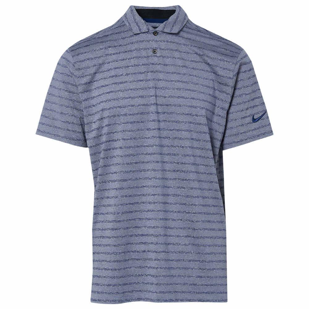 ナイキ Nike メンズ ゴルフ ポロシャツ トップス【Dry Vapor Stripe Golf Polo】青 Void/Pure