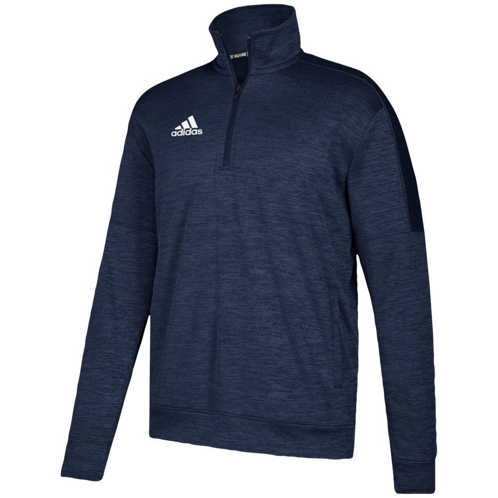 アディダス adidas メンズ フィットネス・トレーニング トップス【Team Issue Fleece 1/4 Zip】Collegiate Navy/White