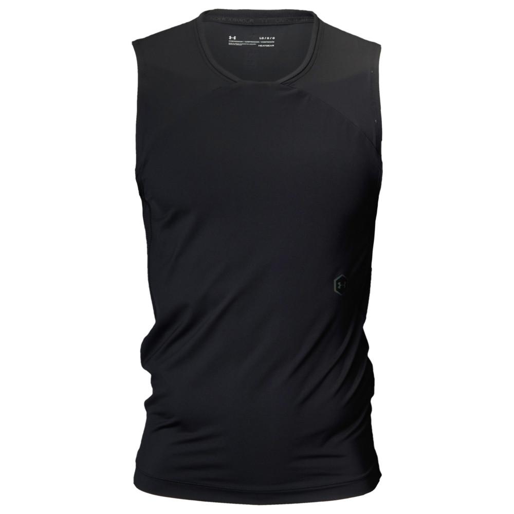 アンダーアーマー Under Armour メンズ フィットネス・トレーニング Tシャツ トップス【Rush Compression S/L T-Shirt】Black/Black