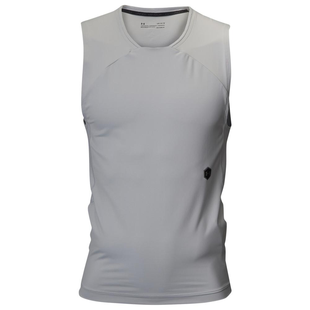 アンダーアーマー Under Armour メンズ フィットネス・トレーニング Tシャツ トップス【Rush Compression S/L T-Shirt】Mod Grey/Black