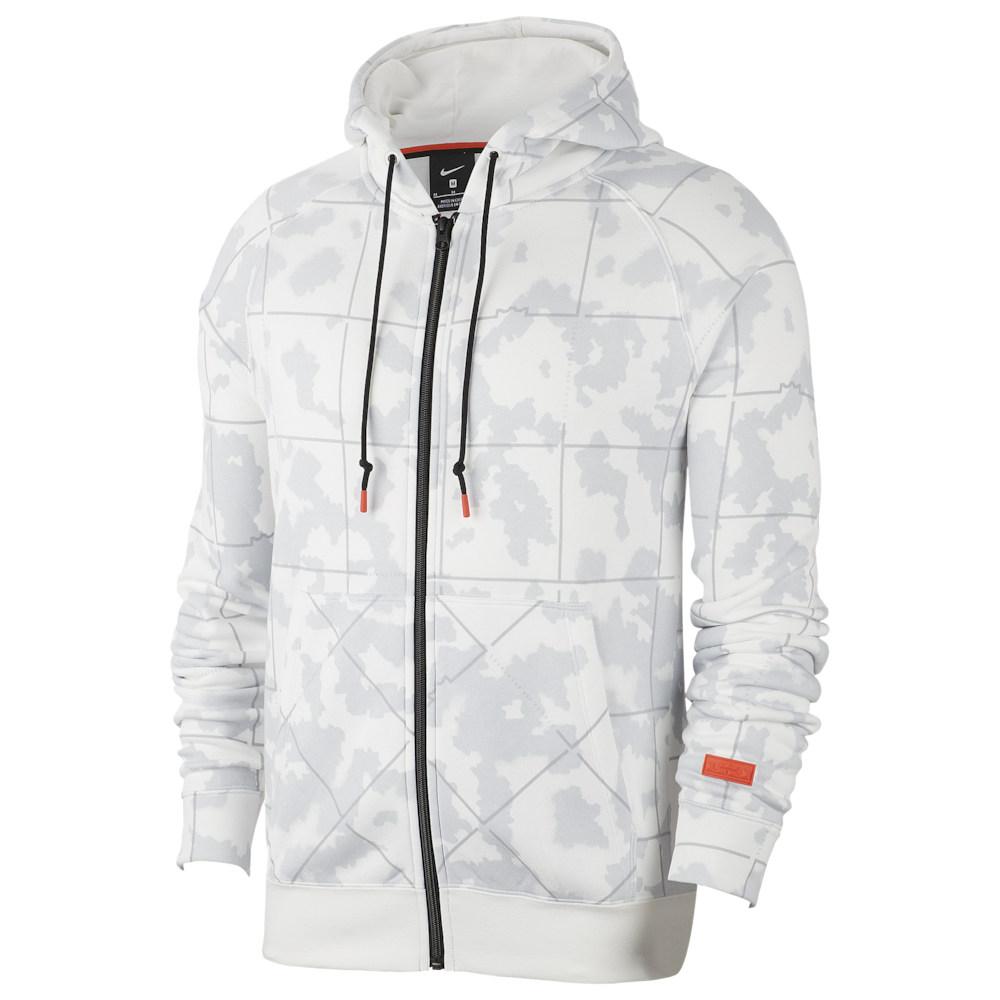 ナイキ Nike メンズ バスケットボール パーカー トップス【LeBron AOP F/Z Hoodie】Lebron James Summit White/Team Orange