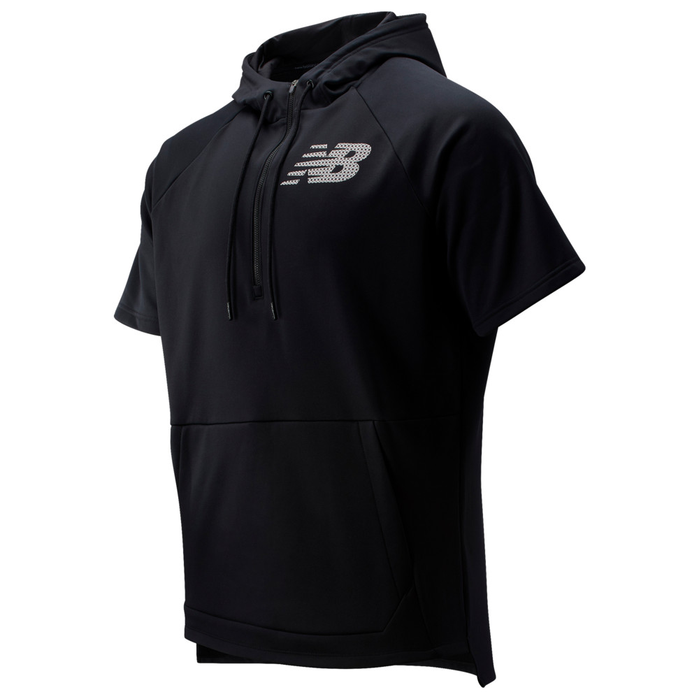 ニューバランス New Balance メンズ 野球 パーカー トップス【BP Fleece SS Hoodie】Black