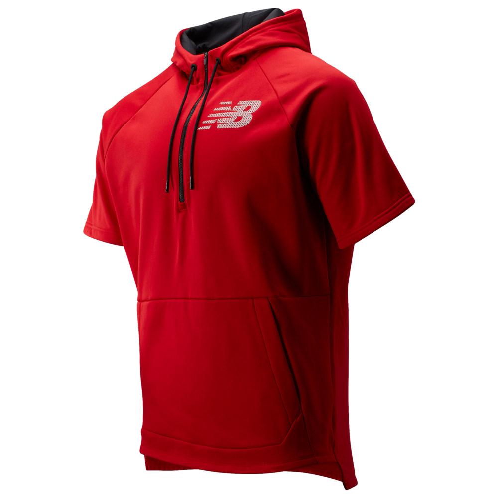 ニューバランス New Balance メンズ 野球 パーカー トップス【BP Fleece SS Hoodie】Team Red