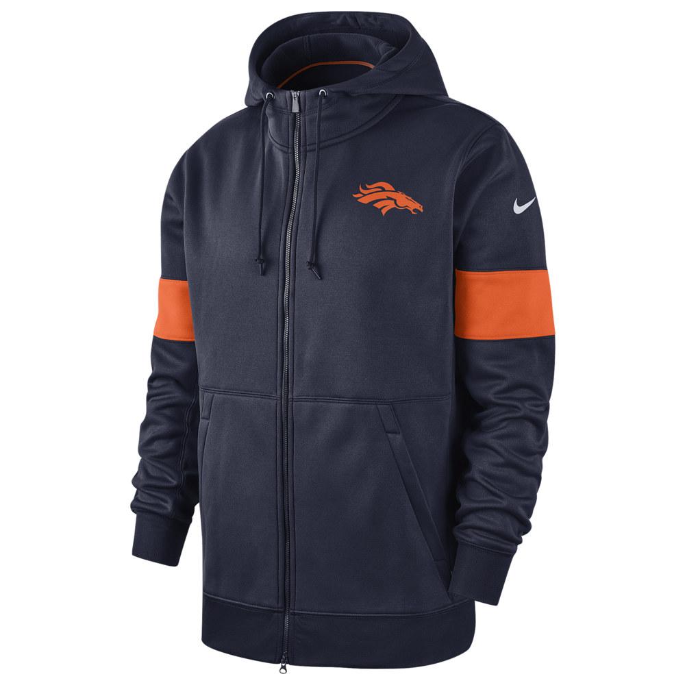 ナイキ Nike メンズ アメリカンフットボール トップス【NFL Therma Full-Zip Hoodie】NFL Denver Broncos College Navy