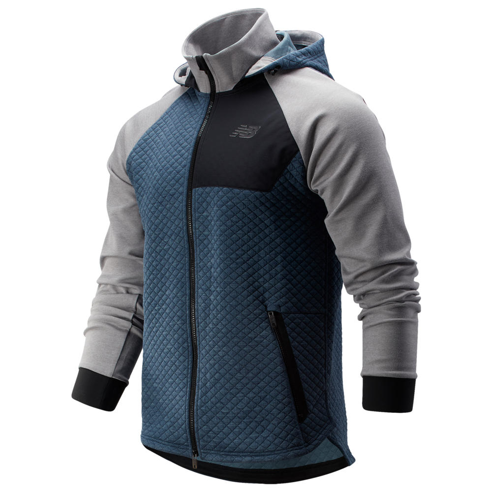 ニューバランス New Balance メンズ フィットネス・トレーニング フード ジャケット トップス【Heat Loft Full-Zip Fleece Hooded Jacket】Athletic Grey
