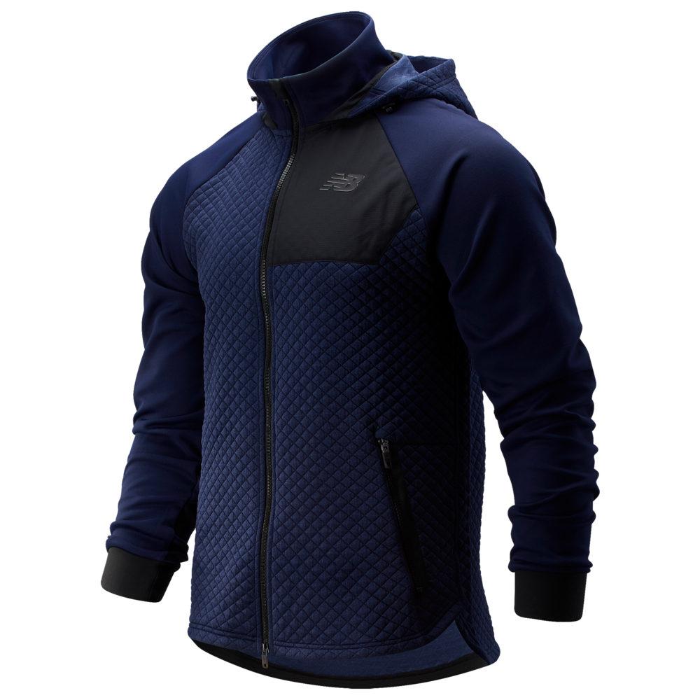 ニューバランス New Balance メンズ フィットネス・トレーニング フード ジャケット トップス【Heat Loft Full-Zip Fleece Hooded Jacket】Pigment