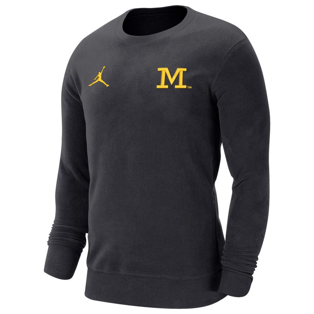 ナイキ ジョーダン Jordan メンズ フリース トップス【College J Crew Neck Fleece】NCAA Michigan Wolverines Pitch Blue