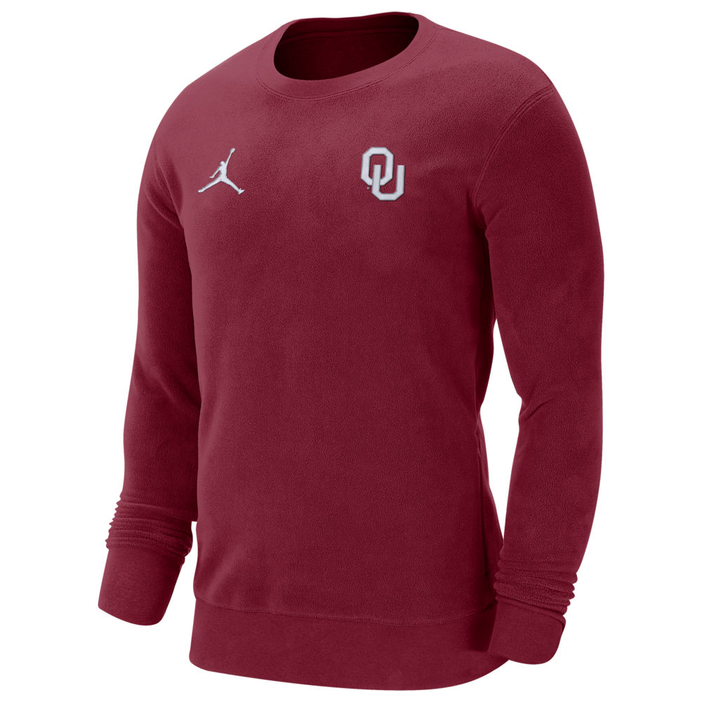 ナイキ ジョーダン Jordan メンズ フリース トップス【College J Crew Neck Fleece】NCAA Oklahoma Sooners Team Crimson