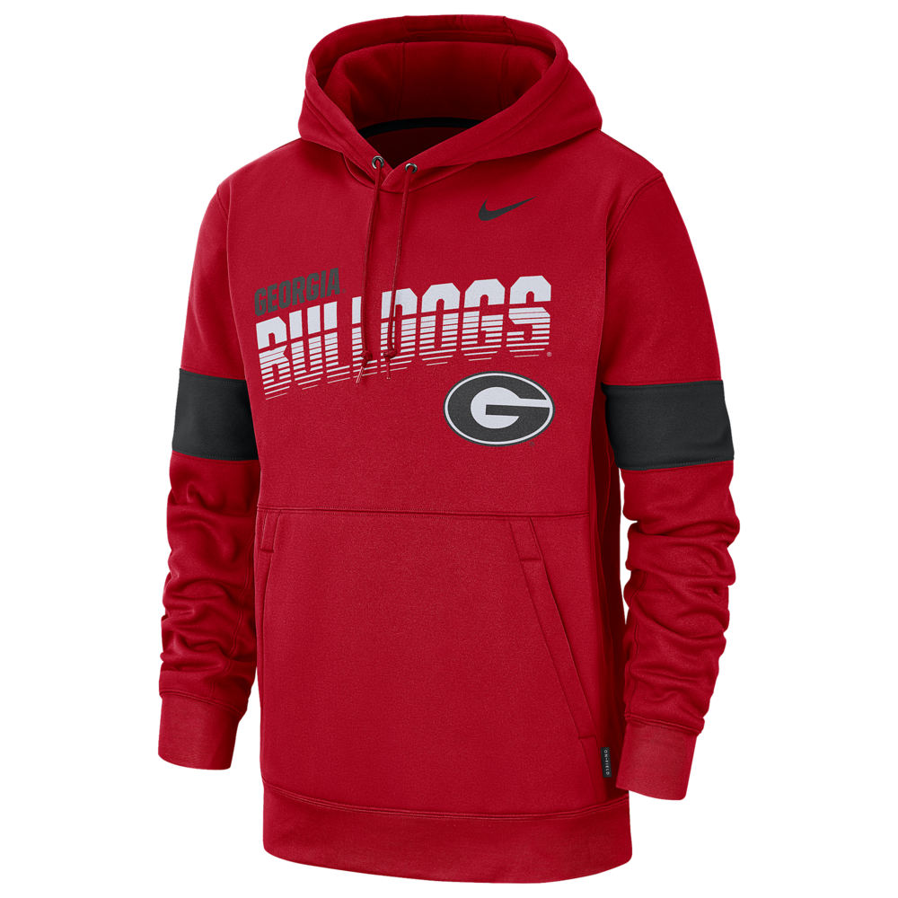 ナイキ Nike メンズ パーカー トップス【College Therma Pullover Hoodie】NCAA Georgia Bulldogs University Red