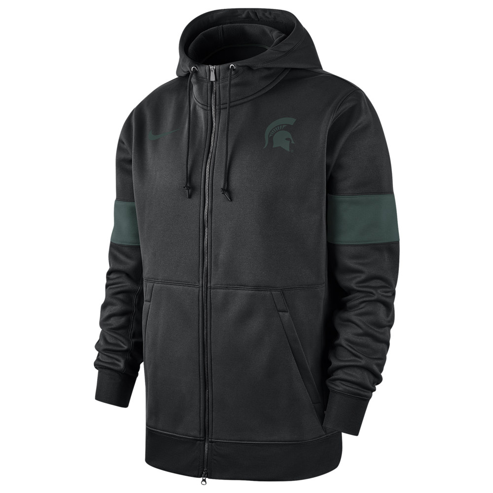 ナイキ Nike メンズ パーカー トップス【College Therma Full-Zip Hoodie】NCAA Michigan State Spartans Black