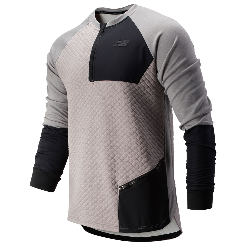 ニューバランス New Balance メンズ フィットネス・トレーニング トップス【Heat Loft Fleece Crew】Athletic Grey