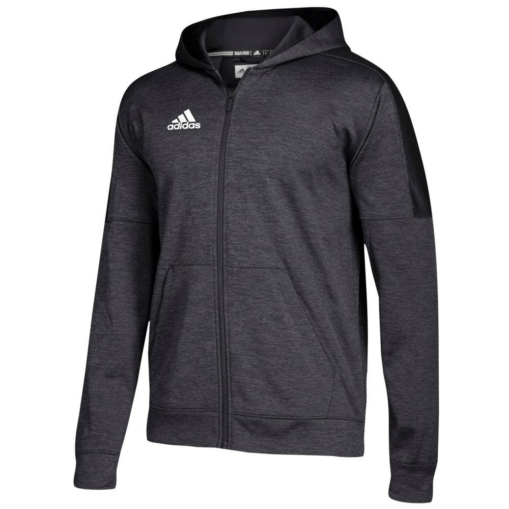 アディダス adidas メンズ フィットネス・トレーニング パーカー トップス【Team Issue Fleece Full Zip Hoodie】Black/White