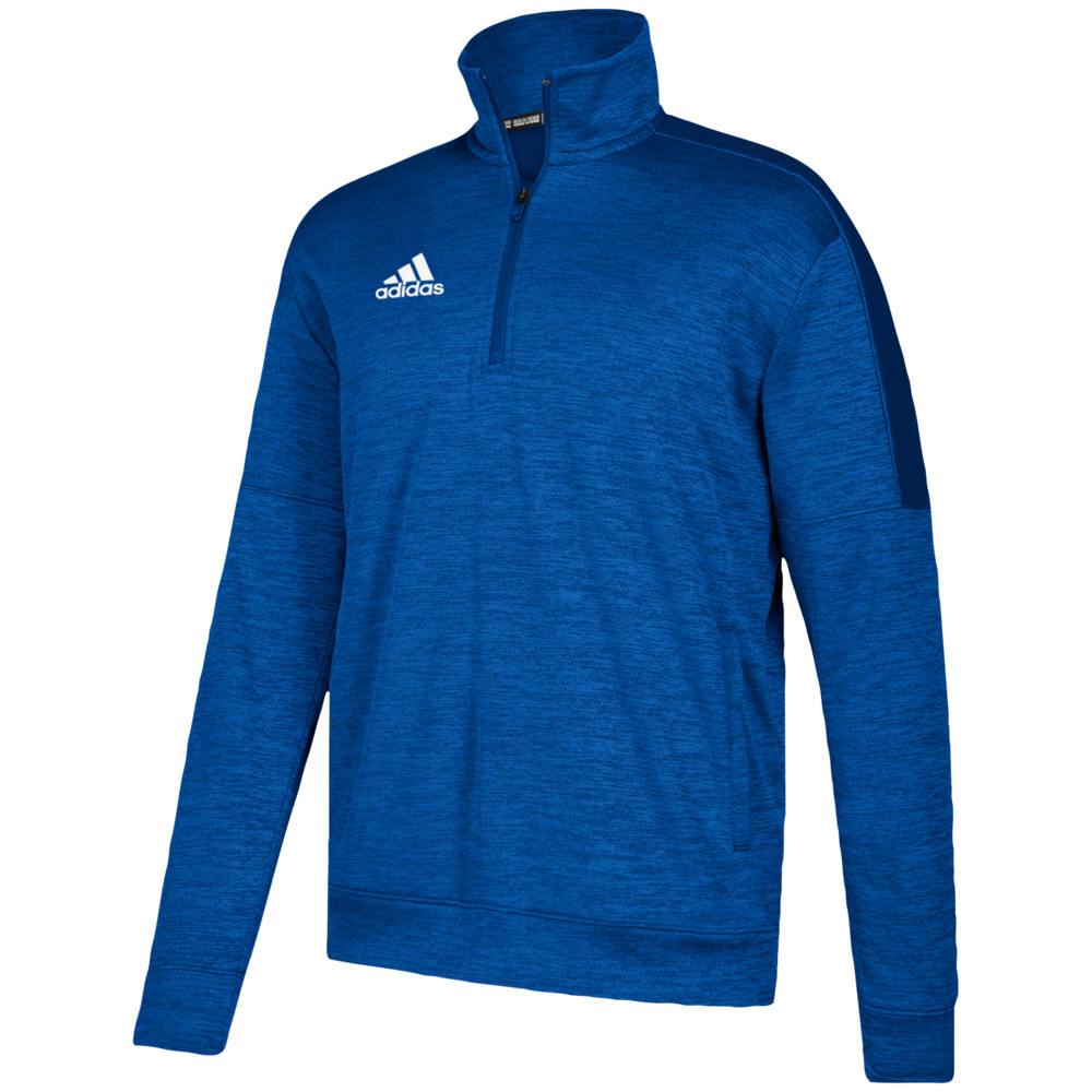 アディダス adidas メンズ フィットネス・トレーニング トップス【Team Issue Fleece 1/4 Zip】Collegiate Royal/White