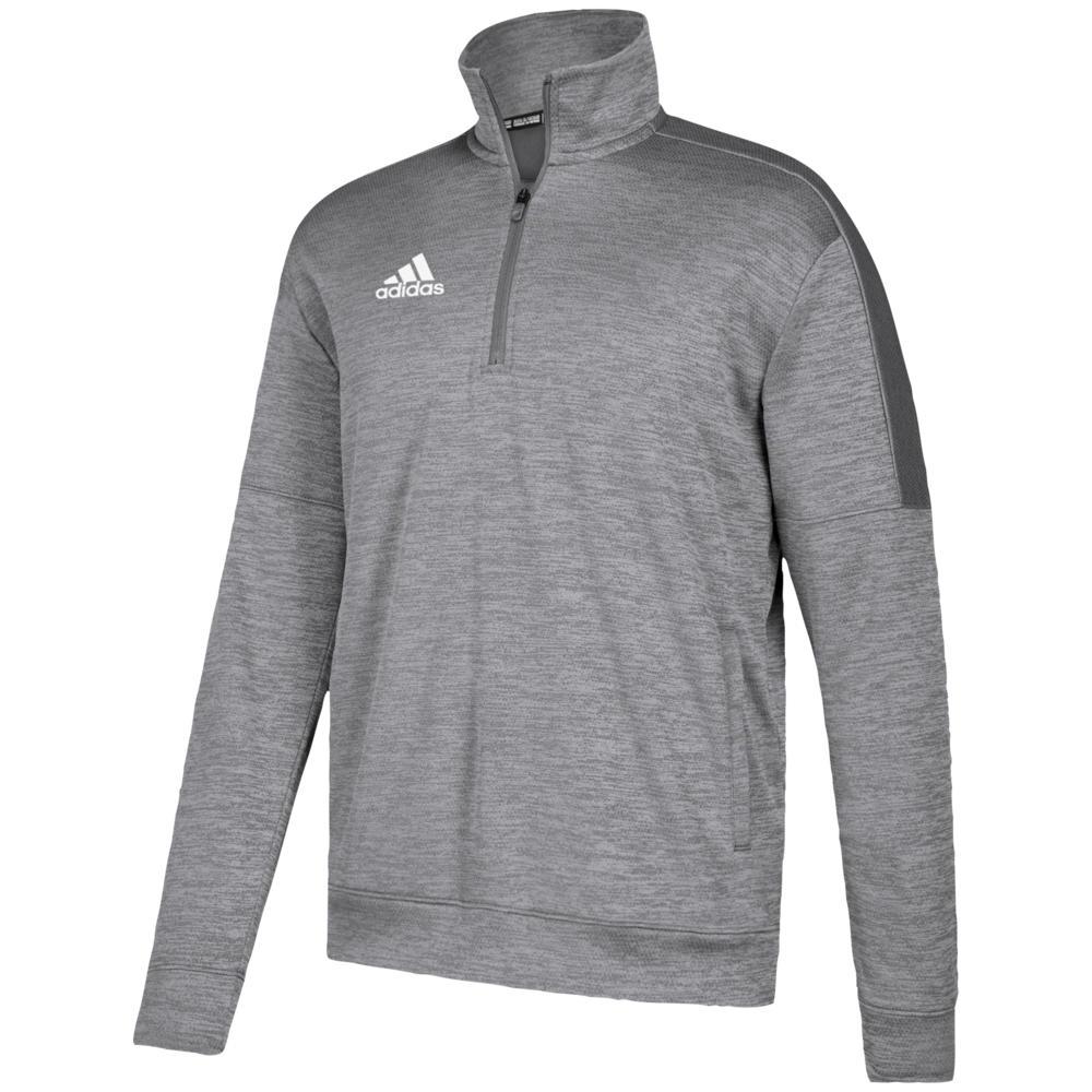アディダス adidas メンズ フィットネス・トレーニング トップス【Team Issue Fleece 1/4 Zip】Grey Two/White