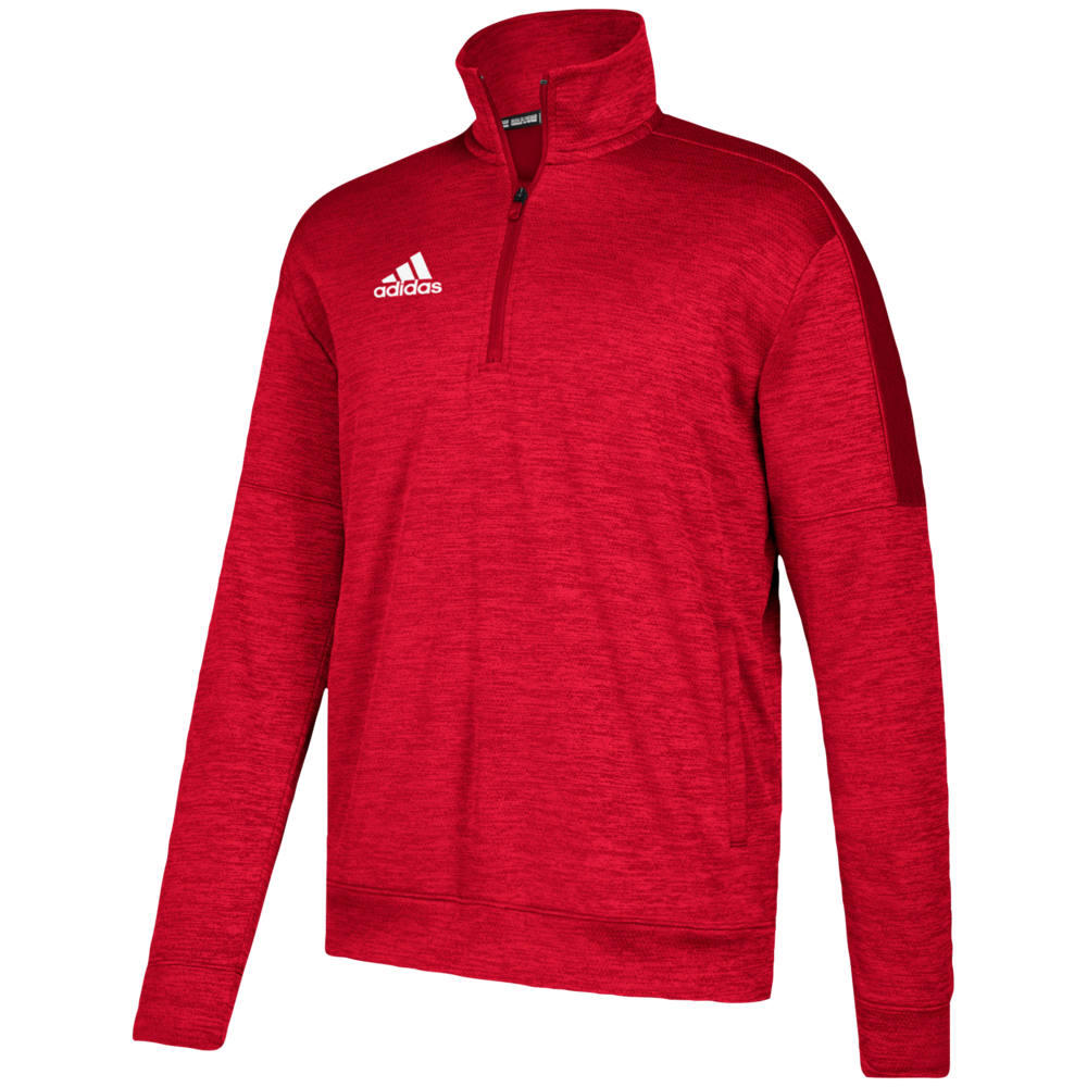 アディダス adidas メンズ フィットネス・トレーニング トップス【Team Issue Fleece 1/4 Zip】Power Red/White