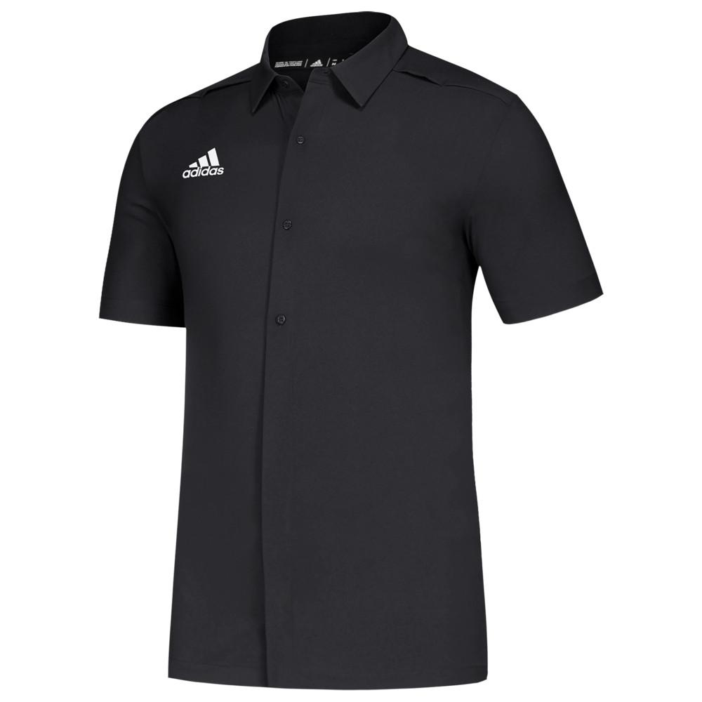 アディダス adidas メンズ フィットネス・トレーニング トップス【Team Game Mode Full Button Polo】Black/White