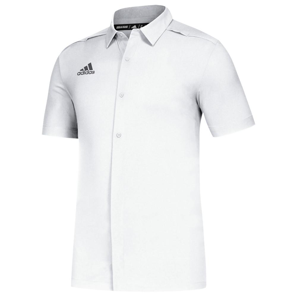 アディダス adidas メンズ フィットネス・トレーニング トップス【Team Game Mode Full Button Polo】White/Grey Five