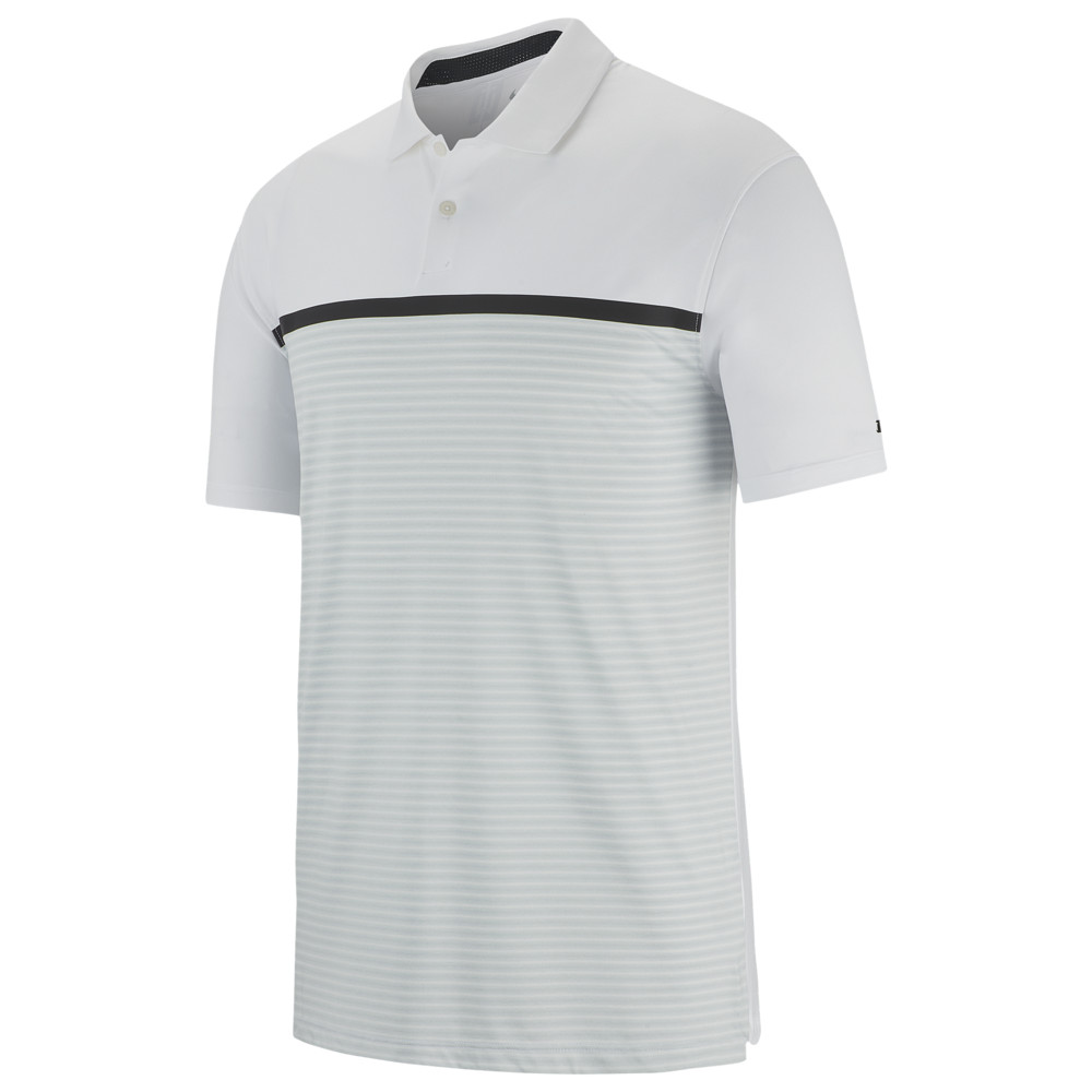 ナイキ Nike メンズ ゴルフ ポロシャツ トップス【TW Vapor Strip Block Polo】白い/Pure Platinum Tiger Woods