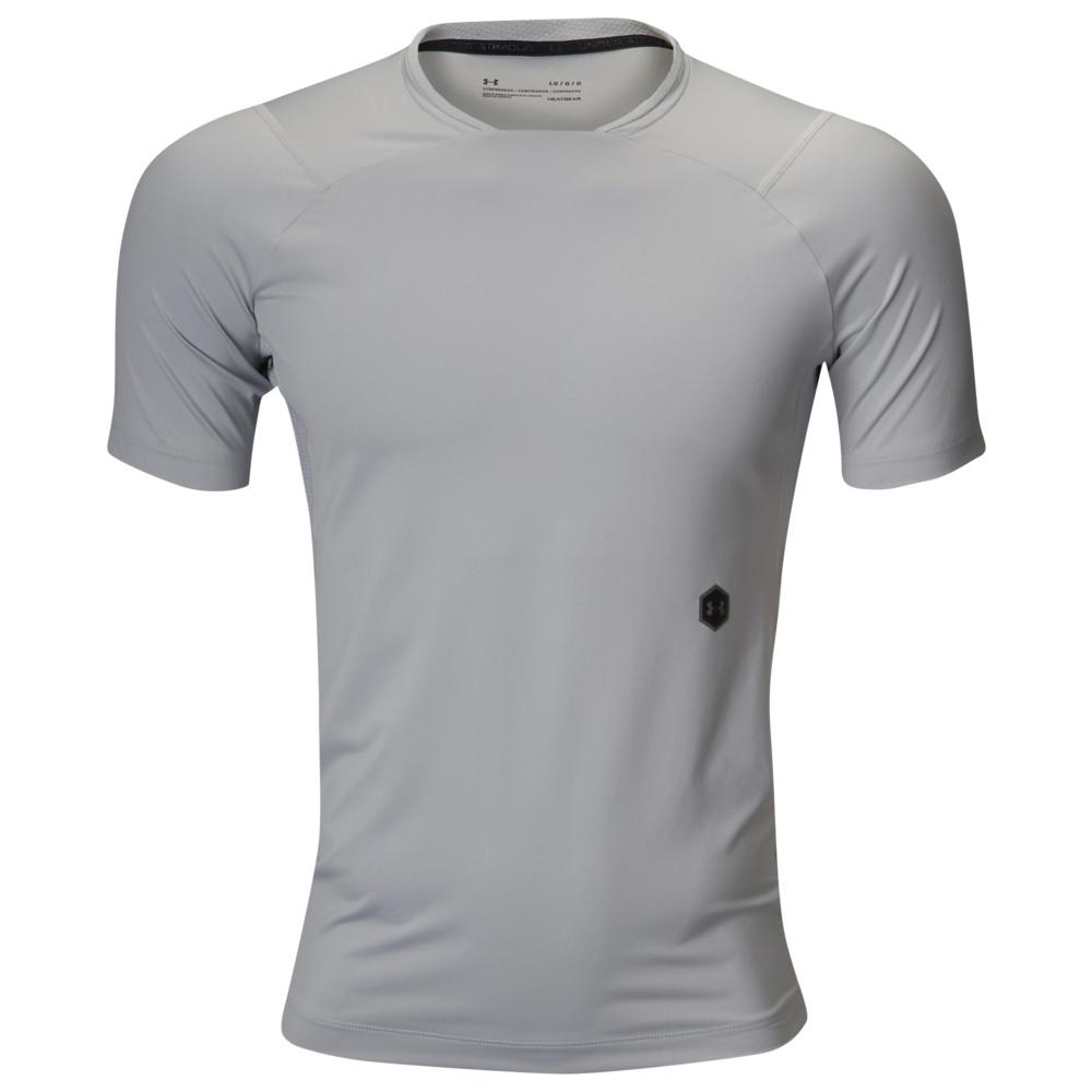 アンダーアーマー Under Armour メンズ フィットネス・トレーニング Tシャツ トップス【Rush Compression T-Shirt】Mod Grey/Black
