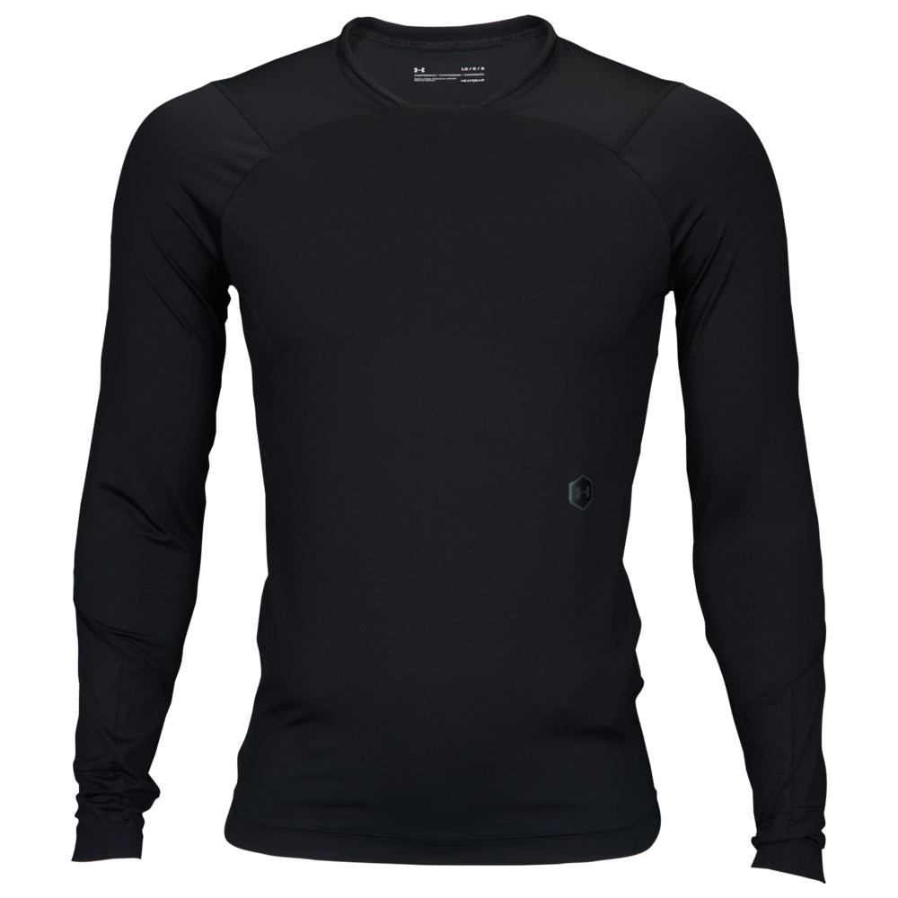 アンダーアーマー Under Armour メンズ フィットネス・トレーニング 長袖Tシャツ トップス【Rush Compression L/S T-Shirt】Black/Black