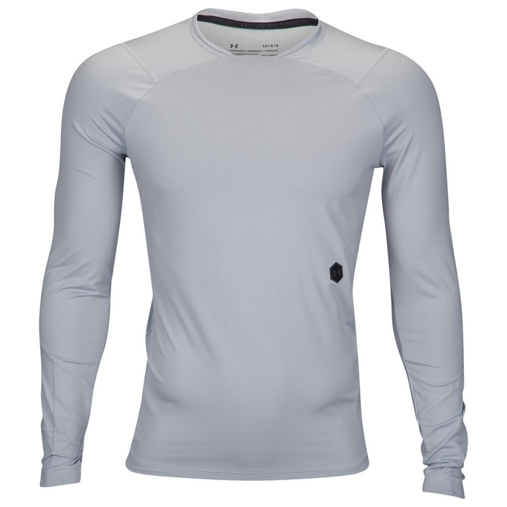 アンダーアーマー Under Armour メンズ フィットネス・トレーニング 長袖Tシャツ トップス【Rush Compression L/S T-Shirt】Mod Grey/Black