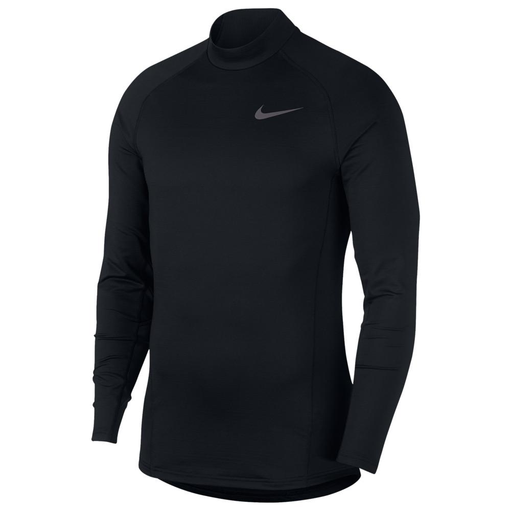 ナイキ Nike メンズ フィットネス・トレーニング トップス【Pro Therma L/S Mock】Black/Dark Grey