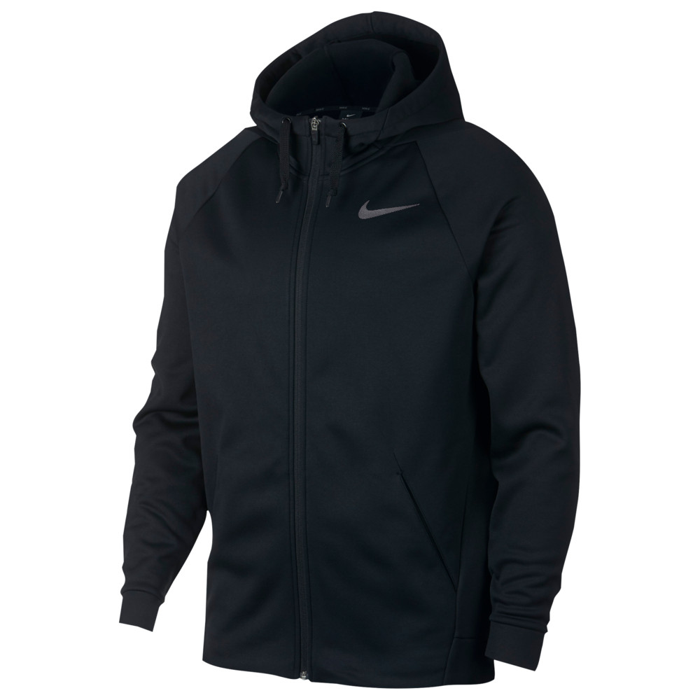 ナイキ Nike メンズ フィットネス・トレーニング パーカー トップス【Therma Full Zip Hoodie】Black/Dark Grey