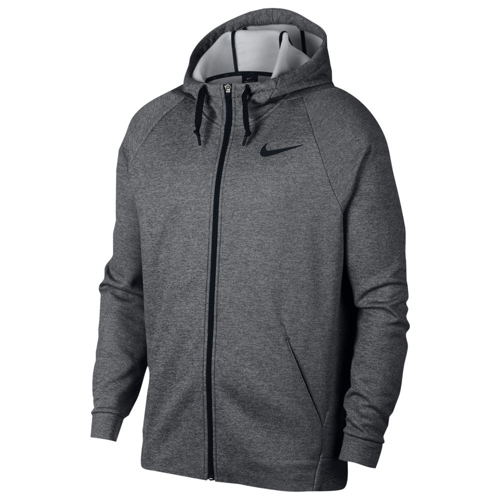 ナイキ Nike メンズ フィットネス・トレーニング パーカー トップス【Therma Full Zip Hoodie】Charcoal Heather/Black