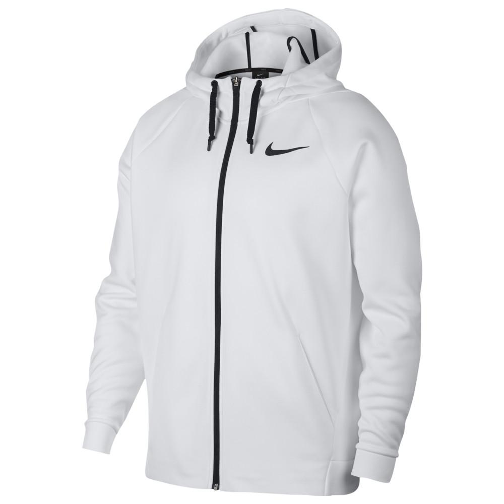 ナイキ Nike メンズ フィットネス・トレーニング パーカー トップス【Therma Full Zip Hoodie】White/Black