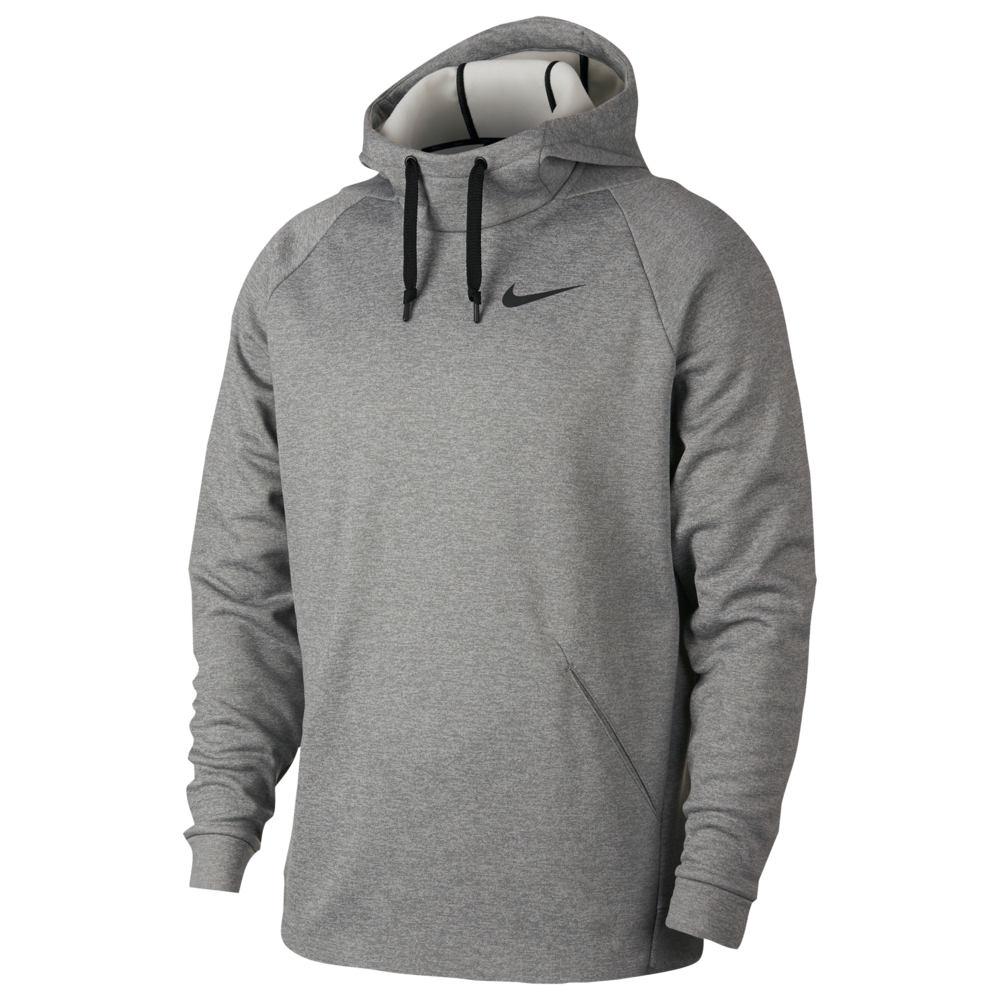 ナイキ Nike メンズ フィットネス・トレーニング パーカー トップス【Therma Fleece Hoodie】Dark Grey Heather/Black