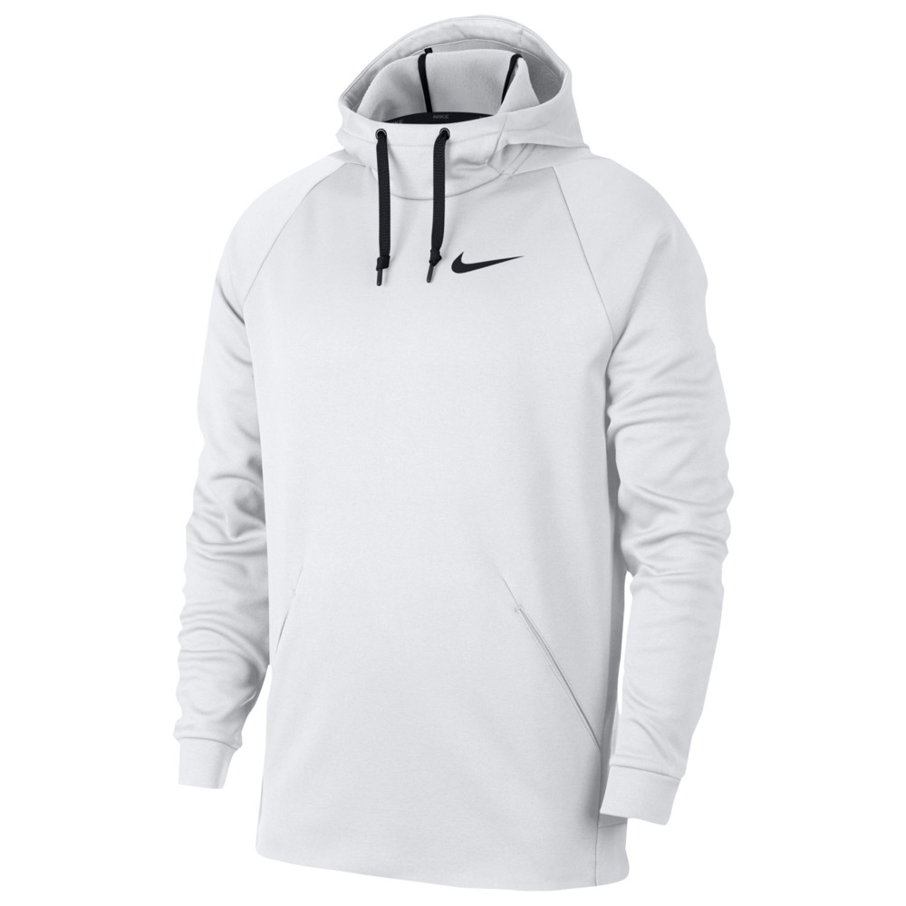 ナイキ Nike メンズ フィットネス・トレーニング パーカー トップス【Therma Fleece Hoodie】White/Black