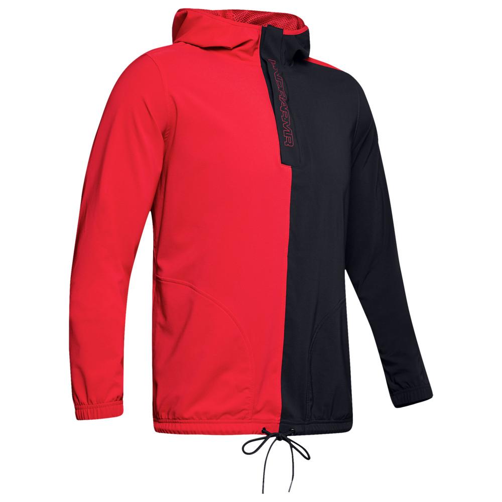 アンダーアーマー Under Armour メンズ バスケットボール ジャケット アウター【Baseline Woven Jacket】Red/Black/Beta Red
