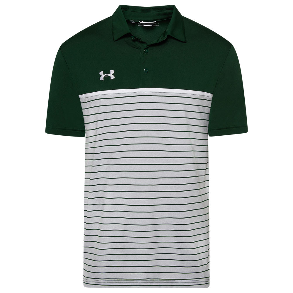 アンダーアーマー Under Armour Team メンズ フィットネス・トレーニング トップス【Team Stripe Mix-Up Polo】Green/White