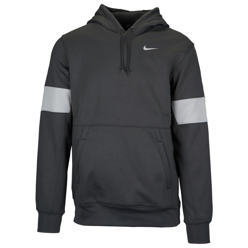 ナイキ Nike メンズ フィットネス・トレーニング パーカー トップス【Team Authentic Therma Pullover Hoodie】Anthracite/Flat Silver/White
