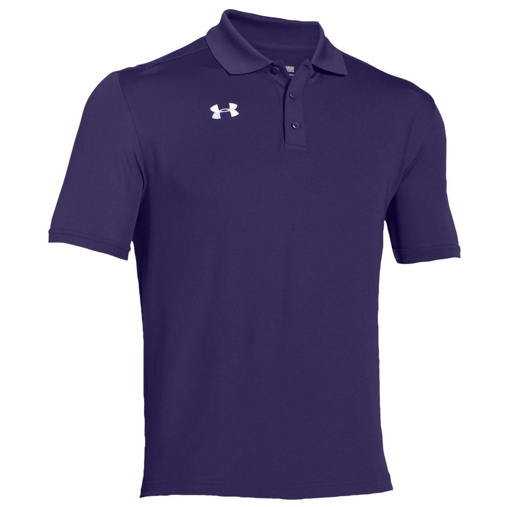 アンダーアーマー Under Armour メンズ フィットネス・トレーニング トップス【Team Armour Polo】Team Purple/White