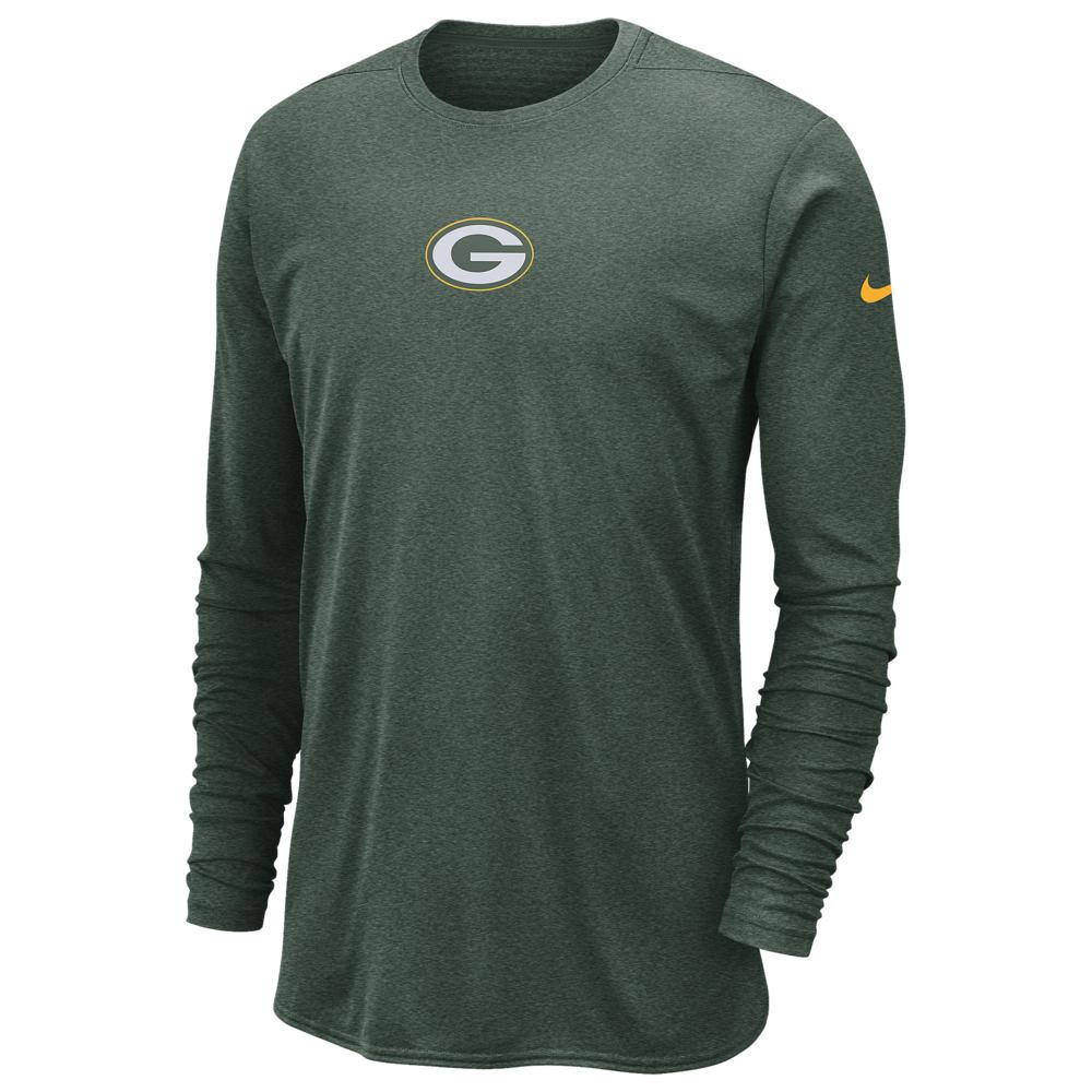 ナイキ Nike メンズ 長袖Tシャツ トップス【NFL Tchknt 360 Players L/S Top】NFL Green Bay Packers Fir
