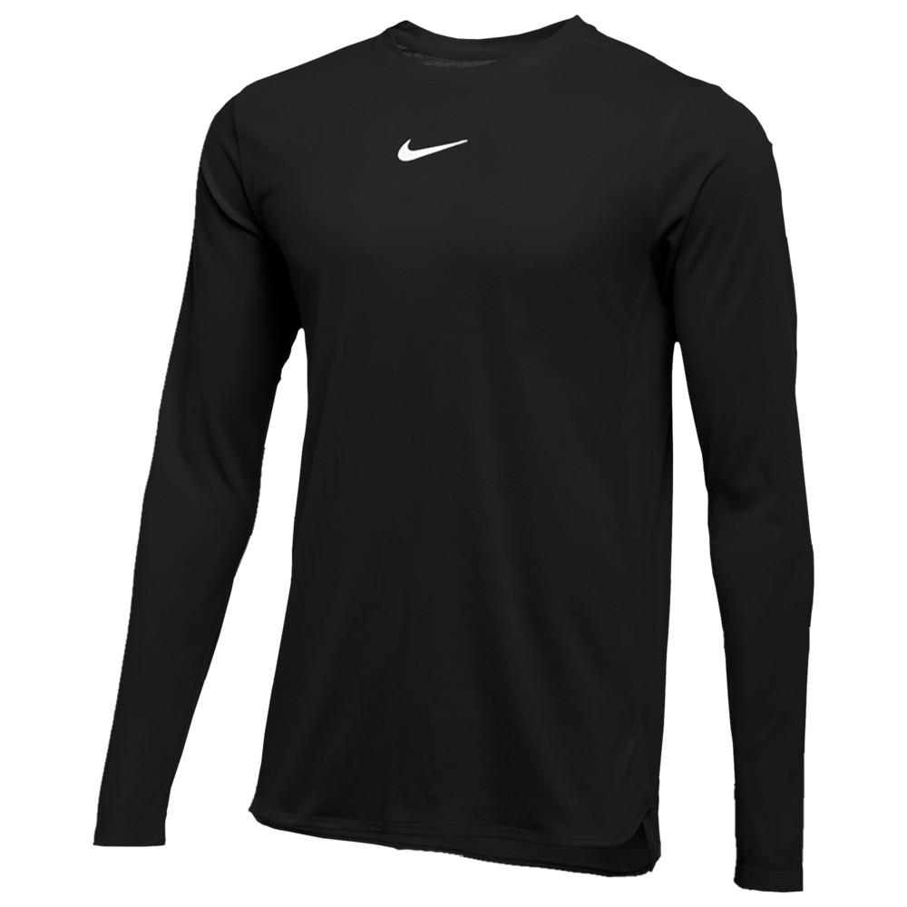ナイキ Nike メンズ フィットネス・トレーニング トップス【Team Authentic Dry Player L/S Top】Black/White