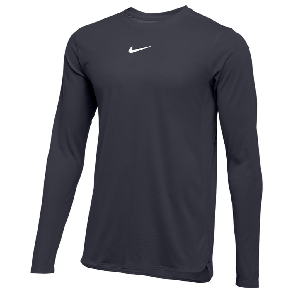ナイキ Nike メンズ フィットネス・トレーニング トップス【Team Authentic Dry Player L/S Top】Anthracite/White