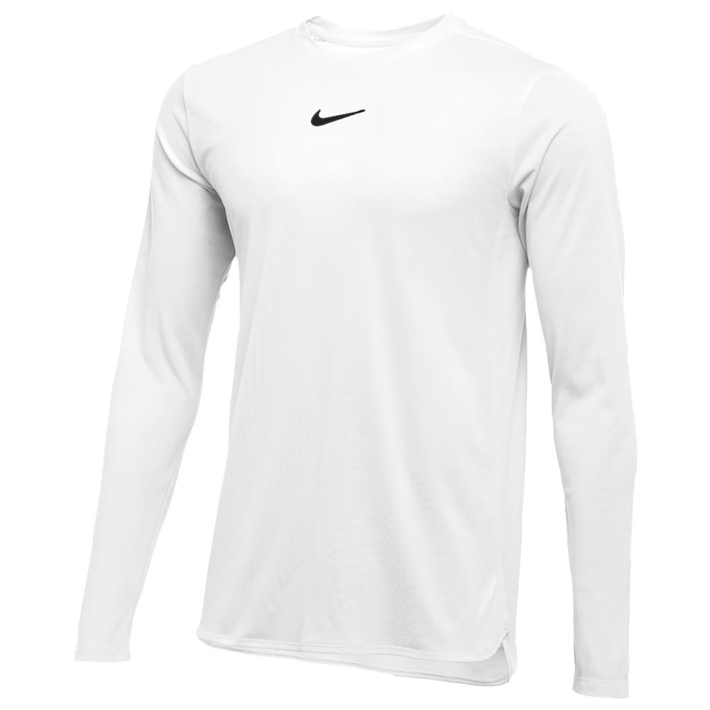 ナイキ Nike メンズ フィットネス・トレーニング トップス【Team Authentic Dry Player L/S Top】White/Black