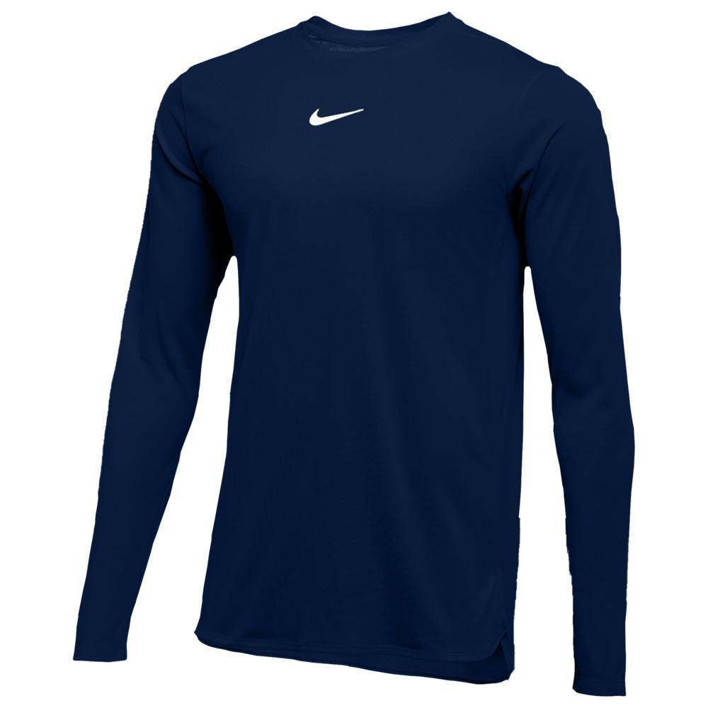 ナイキ Nike メンズ フィットネス・トレーニング トップス【Team Authentic Dry Player L/S Top】College Navy/White