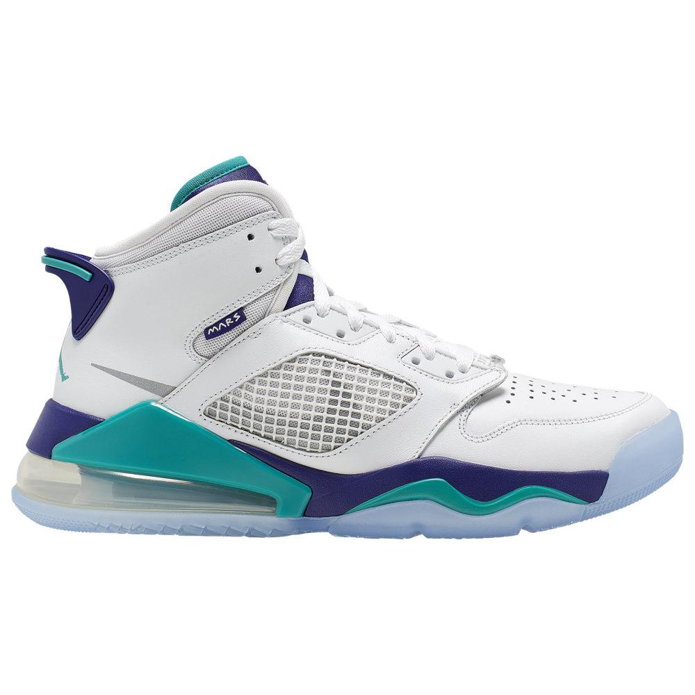 ナイキ ジョーダン Jordan メンズ バスケットボール シューズ・靴【Mars 270】White/Reflective Silver/New Emerald/Grape Ice