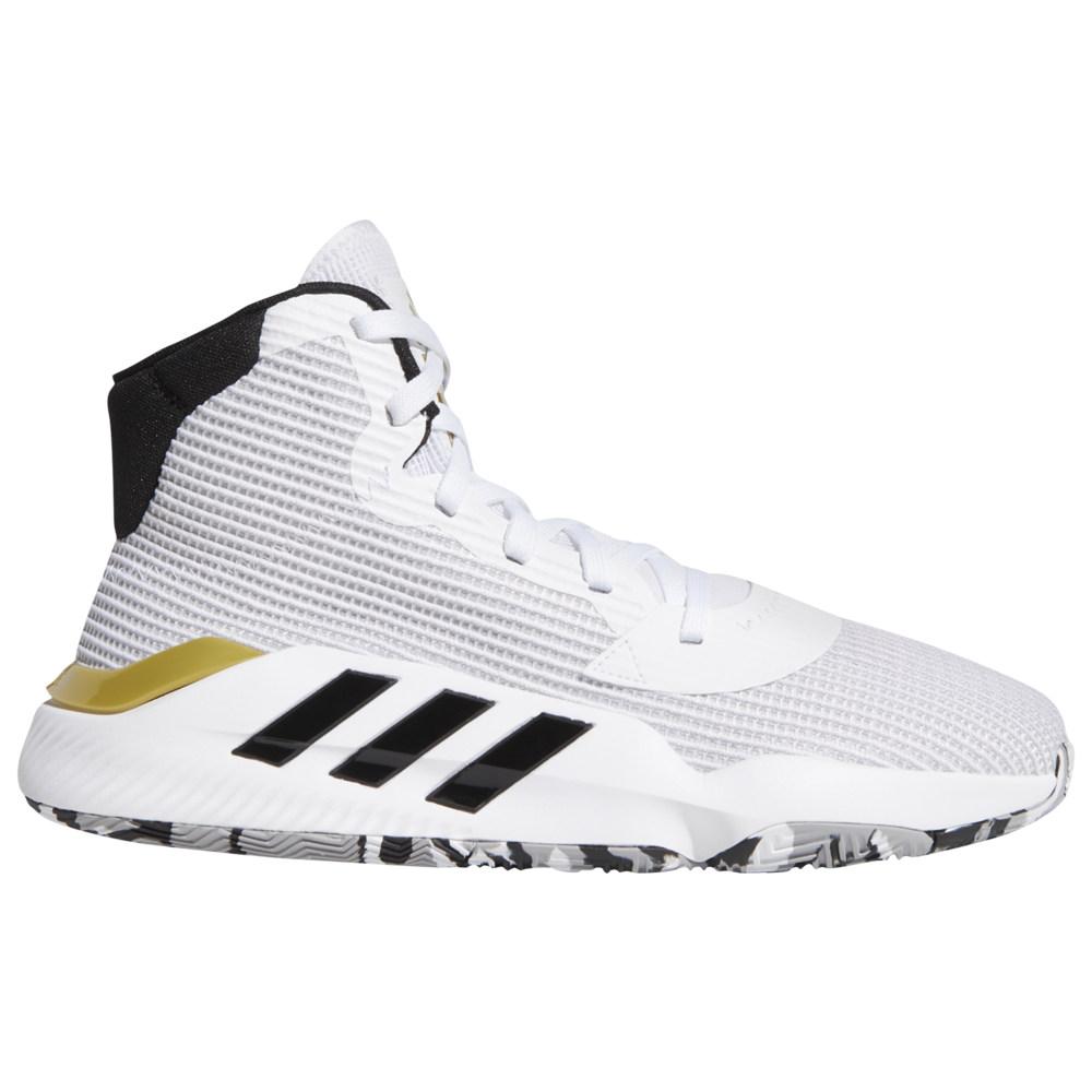 アディダス adidas メンズ バスケットボール シューズ・靴【Pro Bounce Mid】White/Black/Gold Metallic