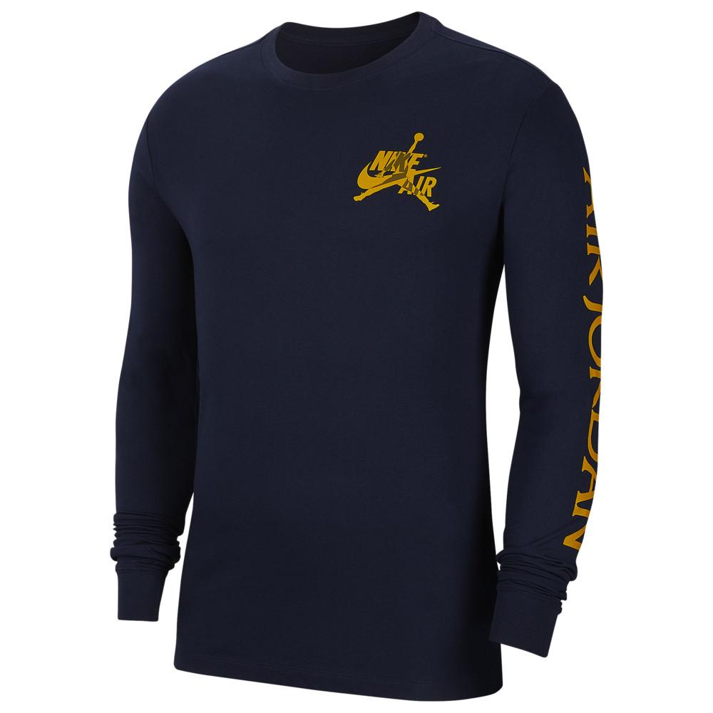 ナイキ ジョーダン Jordan メンズ バスケットボール 長袖Tシャツ トップス【Classics Long Sleeve Crew T-Shirt】Obsidian/Dark Sulfur