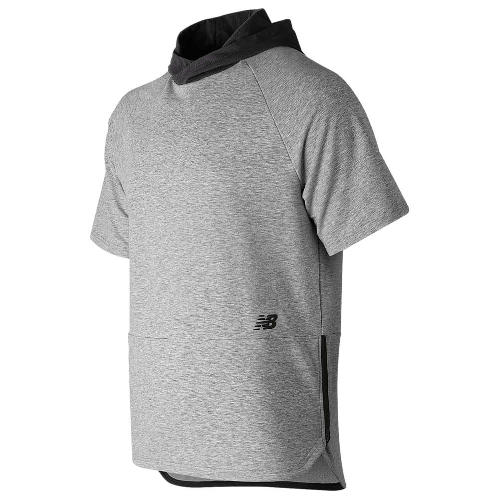 ニューバランス New Balance メンズ フィットネス・トレーニング トップス【R.W.T Short Sleeve Pullover Hoodie】Athletic Grey