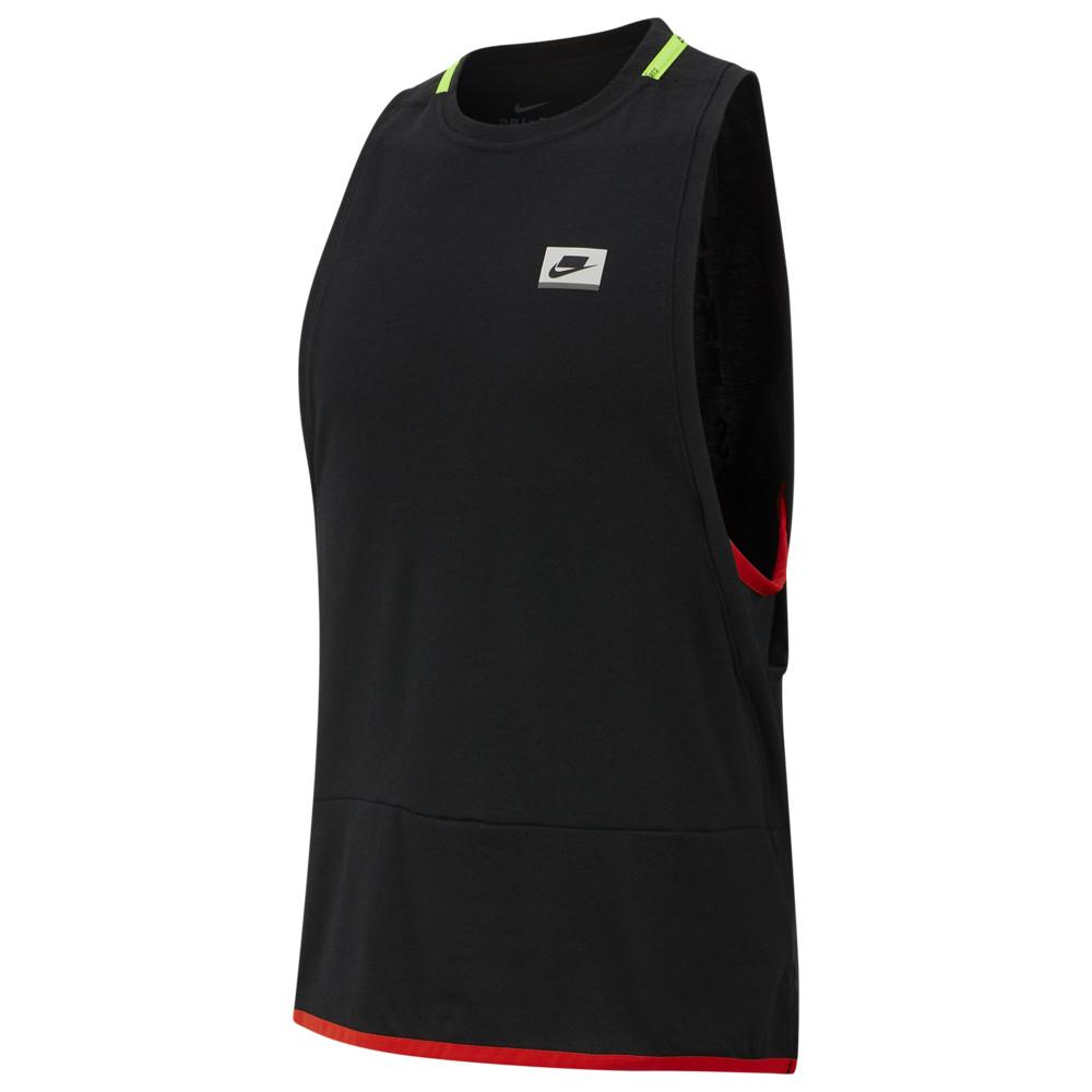 ナイキ Nike メンズ フィットネス・トレーニング タンクトップ トップス【Dry NSP Tank】Black/Red/Electric Green Sport Clash