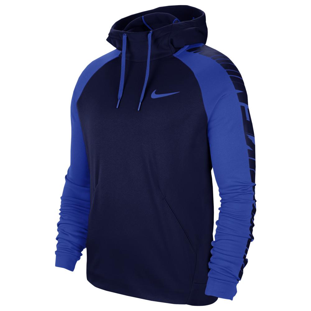 ナイキ Nike メンズ フィットネス・トレーニング パーカー トップス【Therma Fleece Sleeve Graphic Hoodie】Blue Void/Hyper Royal