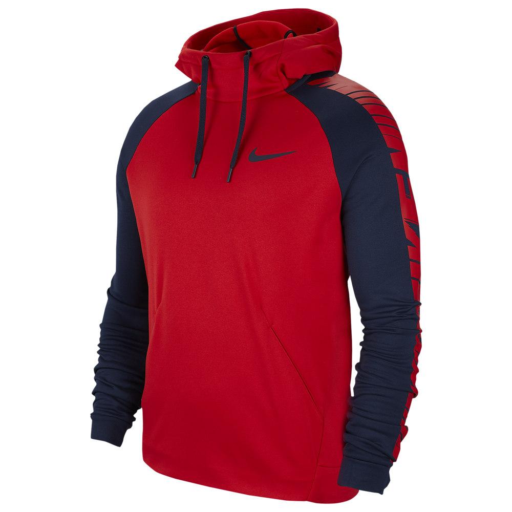 ナイキ Nike メンズ フィットネス・トレーニング パーカー トップス【Therma Fleece Sleeve Graphic Hoodie】University Red/Obsidian