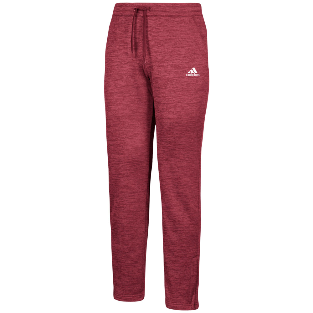 アディダス adidas メンズ フィットネス・トレーニング ボトムス・パンツ【Team Issue Fleece Pants】Collegiate Burgundy/White